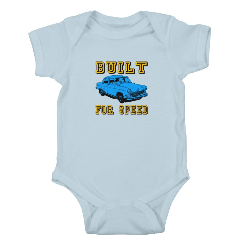 BUILT FOR SPEED-777 Kids Baby Bodysuit by THE ORANGE ZEROMAX STREET COUTURE