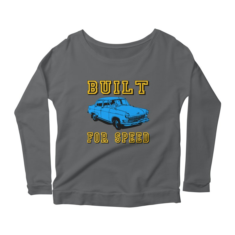 BUILT FOR SPEED-777 Women's Longsleeve Scoopneck  by THE ORANGE ZEROMAX STREET COUTURE