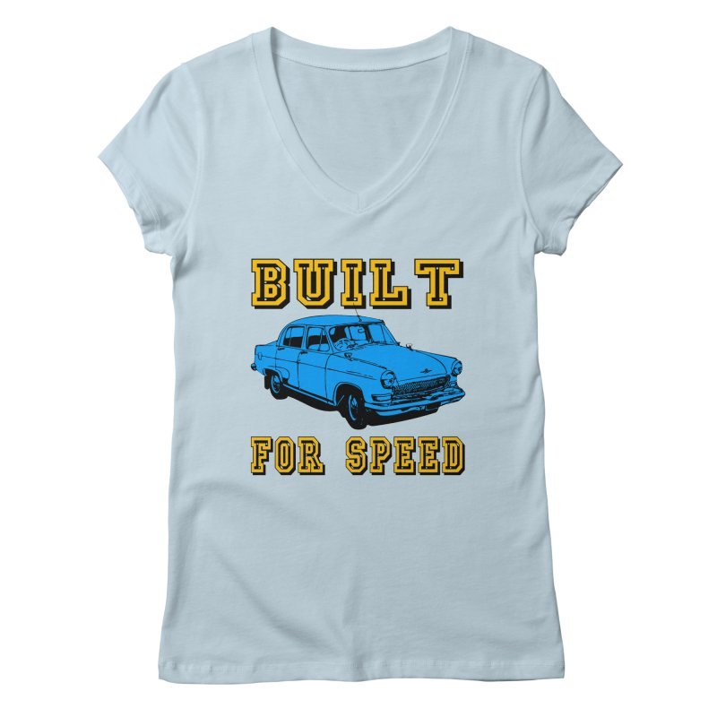 BUILT FOR SPEED-777 Women's V-Neck by THE ORANGE ZEROMAX STREET COUTURE