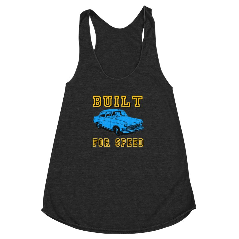 BUILT FOR SPEED-777 Women's Racerback Triblend Tank by THE ORANGE ZEROMAX STREET COUTURE