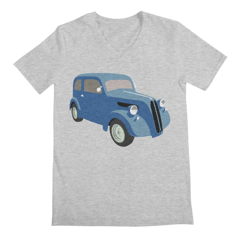 VOITURE-5 Men's V-Neck by THE ORANGE ZEROMAX STREET COUTURE