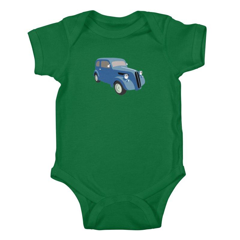 VOITURE-5 Kids Baby Bodysuit by THE ORANGE ZEROMAX STREET COUTURE