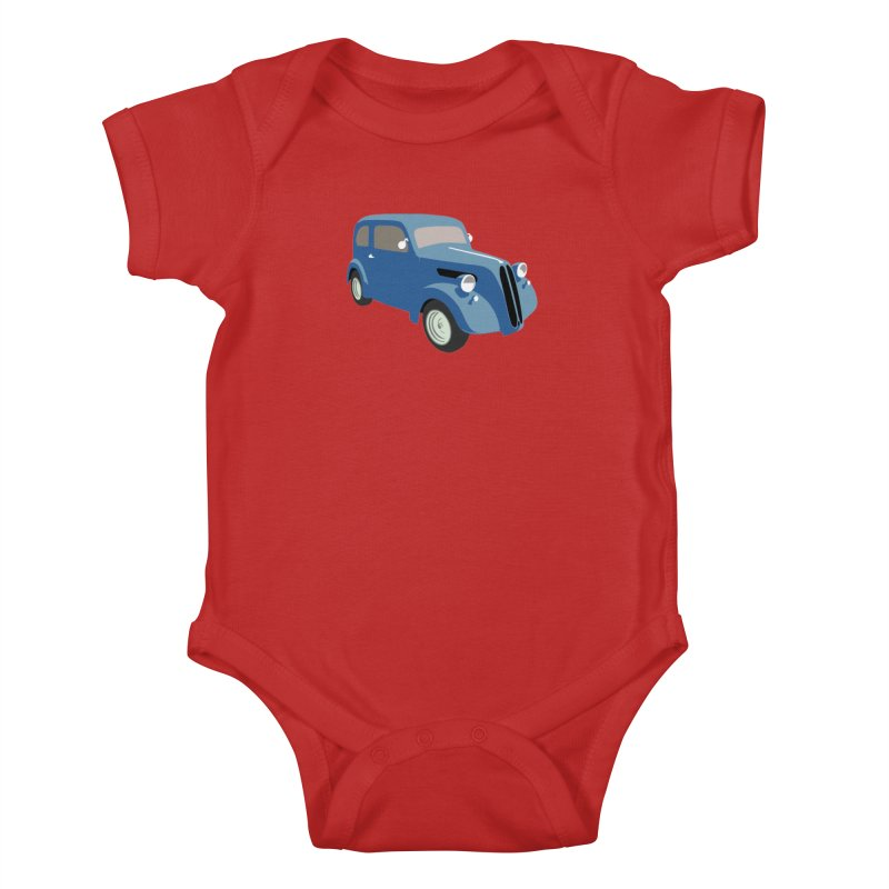 VOITURE-5 Kids Baby Bodysuit by THE ORANGE ZEROMAX STREET COUTURE