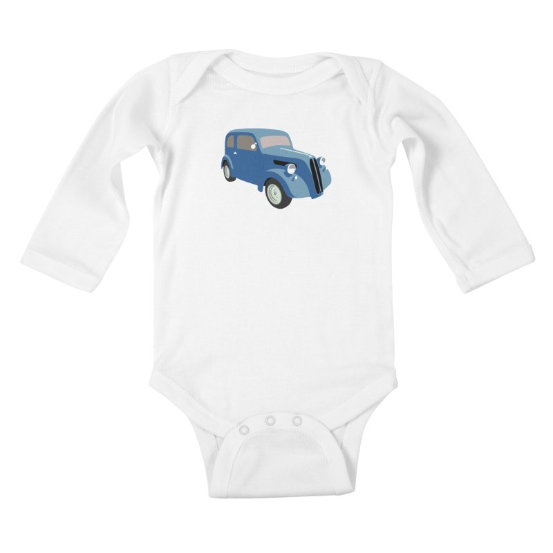 VOITURE-5 Kids Baby Longsleeve Bodysuit by THE ORANGE ZEROMAX STREET COUTURE