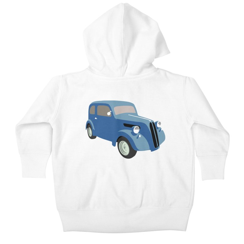 VOITURE-5 Kids Baby Zip-Up Hoody by THE ORANGE ZEROMAX STREET COUTURE