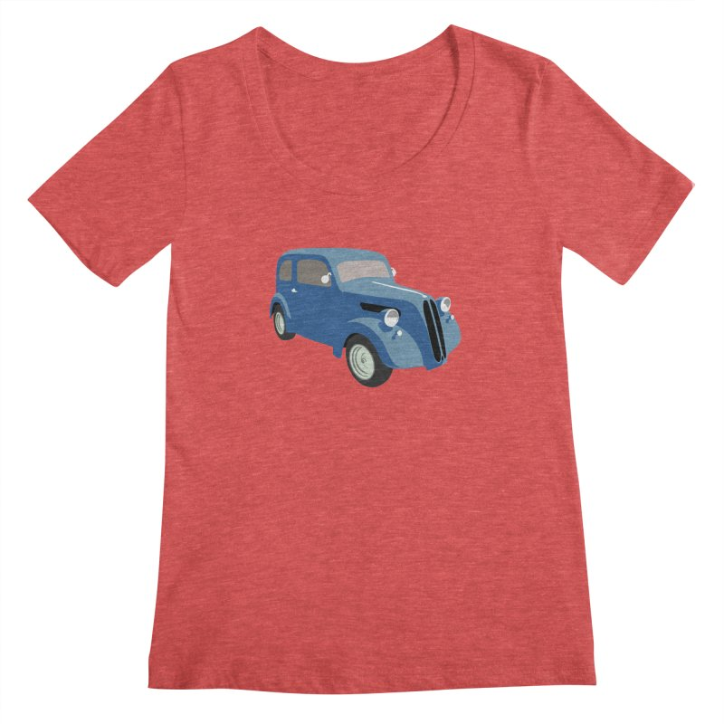 VOITURE-5 Women's Scoopneck by THE ORANGE ZEROMAX STREET COUTURE