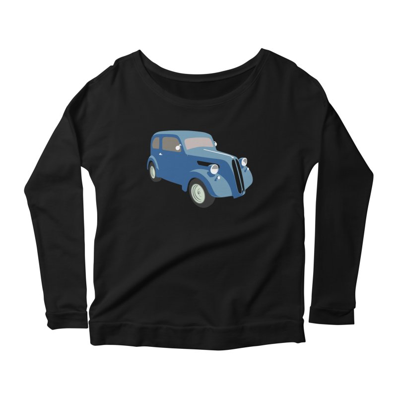 VOITURE-5 Women's Longsleeve Scoopneck  by THE ORANGE ZEROMAX STREET COUTURE