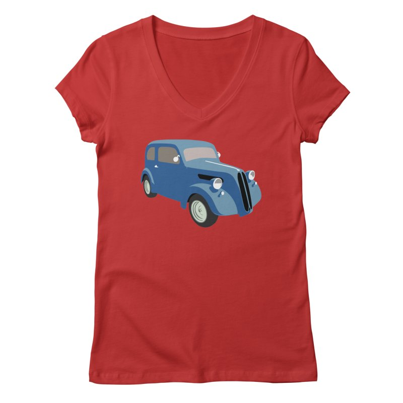 VOITURE-5 Women's V-Neck by THE ORANGE ZEROMAX STREET COUTURE