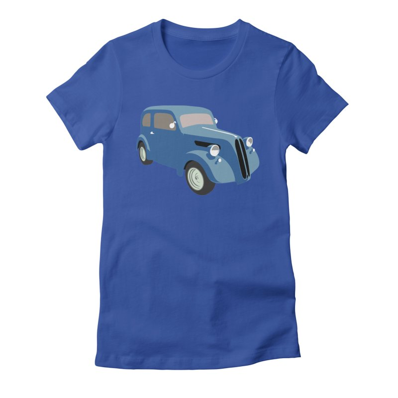 VOITURE-5 Women's Fitted T-Shirt by THE ORANGE ZEROMAX STREET COUTURE