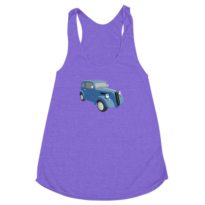 VOITURE-5 Women's Racerback Triblend Tank by THE ORANGE ZEROMAX STREET COUTURE