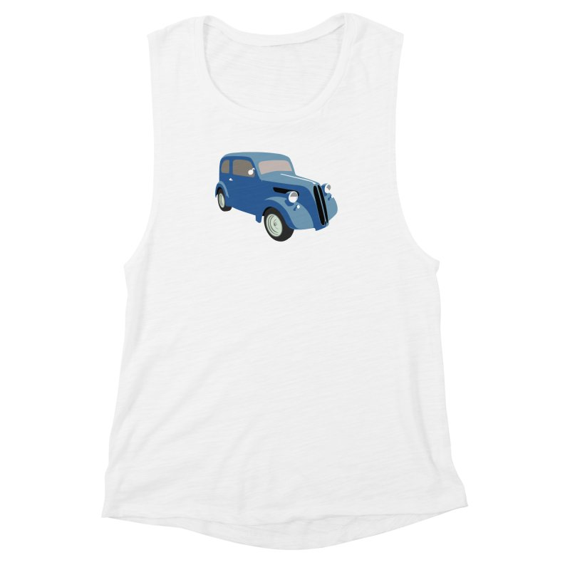 VOITURE-5 Women's Muscle Tank by THE ORANGE ZEROMAX STREET COUTURE