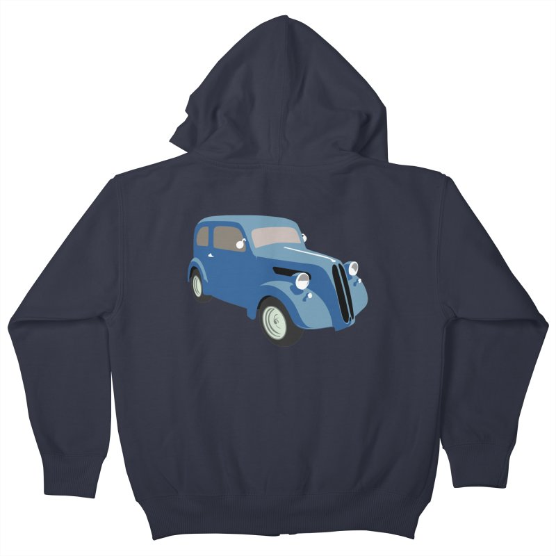 VOITURE-5 Kids Zip-Up Hoody by THE ORANGE ZEROMAX STREET COUTURE