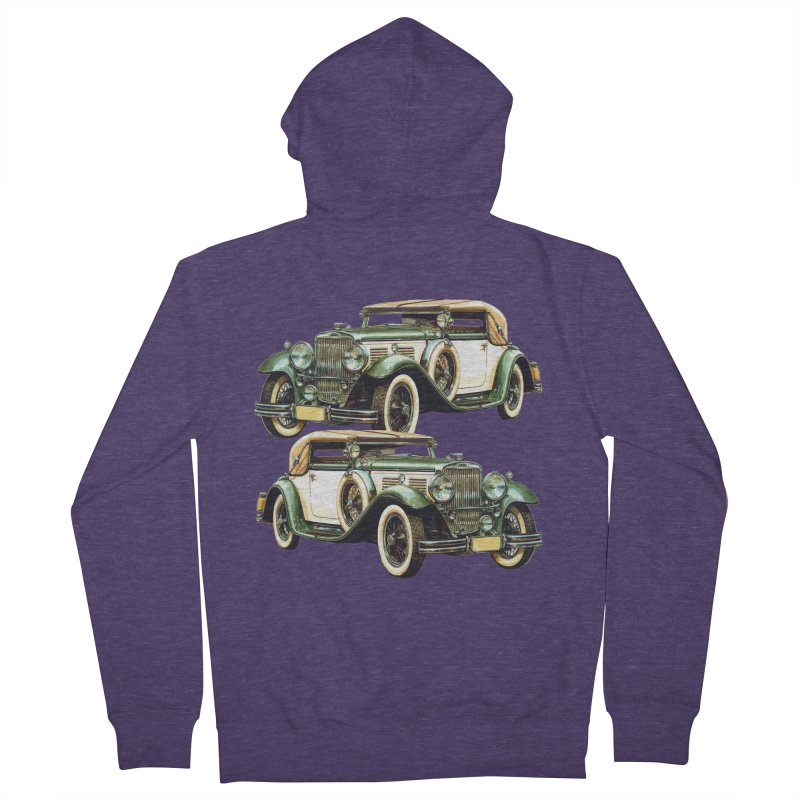 VOITURE-6 Men's French Terry Zip-Up Hoody by THE ORANGE ZEROMAX STREET COUTURE