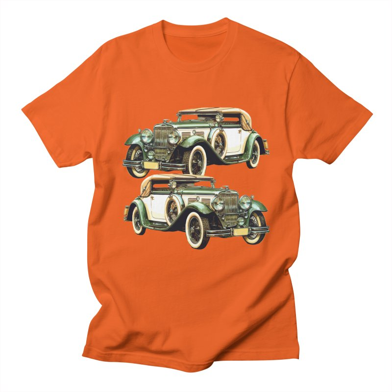 VOITURE-6 in Men's Regular T-Shirt Orange Poppy by THE ORANGE ZEROMAX STREET COUTURE
