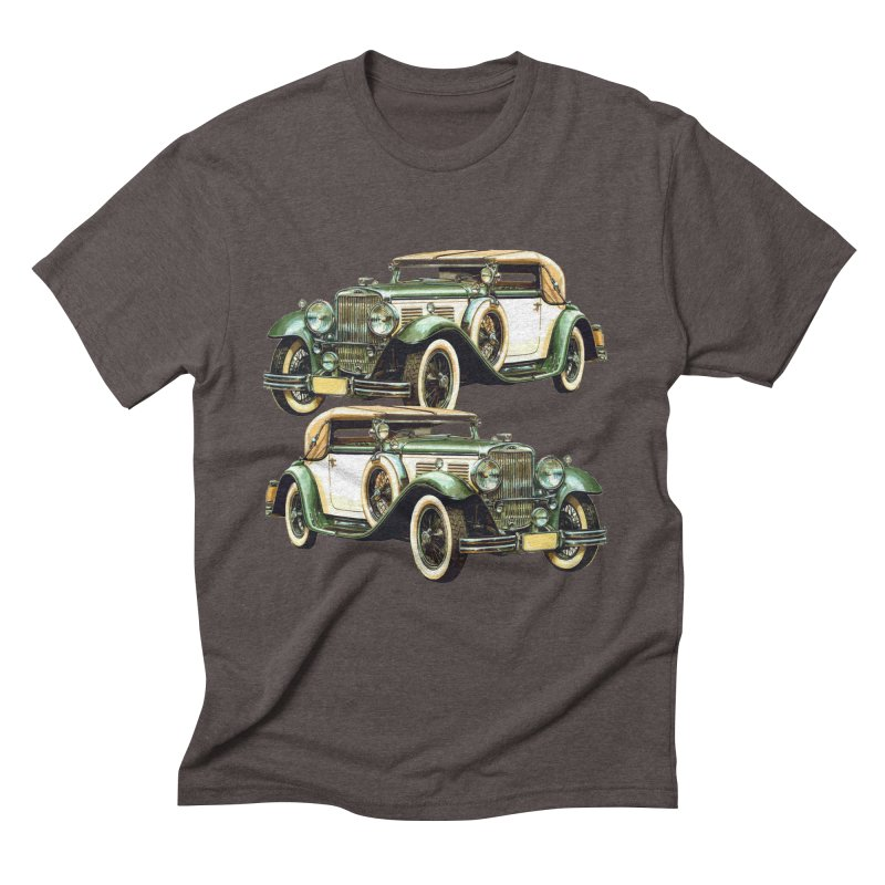 VOITURE-6 Men's Triblend T-Shirt by THE ORANGE ZEROMAX STREET COUTURE