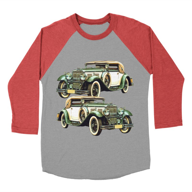 VOITURE-6 Men's Baseball Triblend Longsleeve T-Shirt by THE ORANGE ZEROMAX STREET COUTURE
