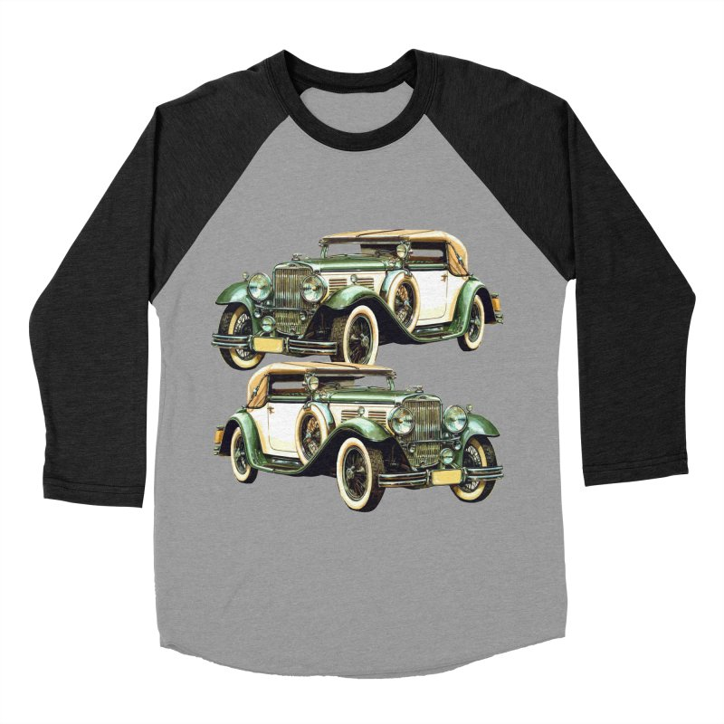 VOITURE-6 Men's Baseball Triblend T-Shirt by THE ORANGE ZEROMAX STREET COUTURE