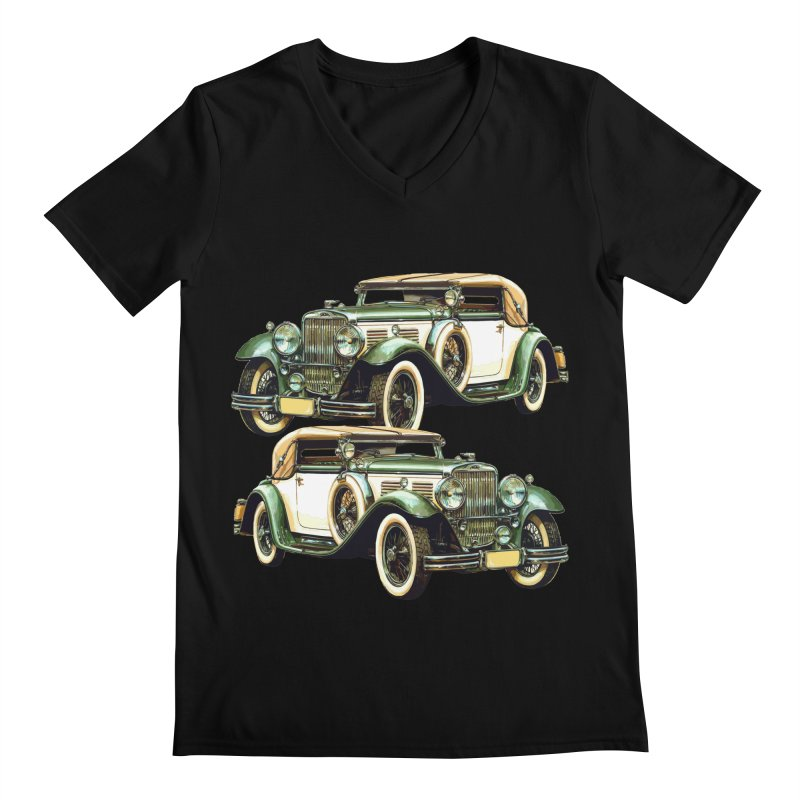 VOITURE-6 Men's V-Neck by THE ORANGE ZEROMAX STREET COUTURE