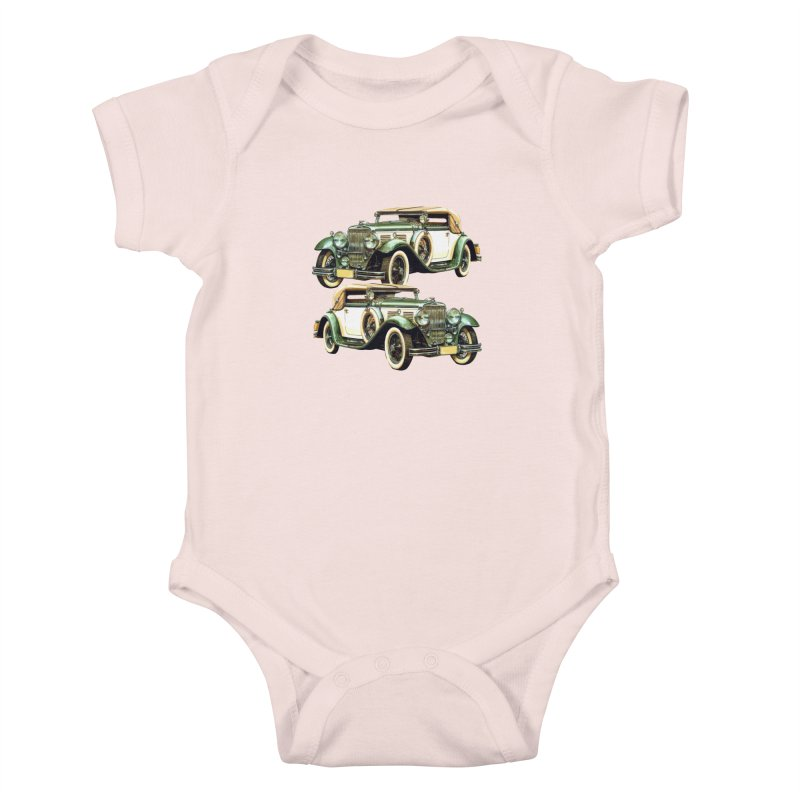 VOITURE-6 Kids Baby Bodysuit by THE ORANGE ZEROMAX STREET COUTURE