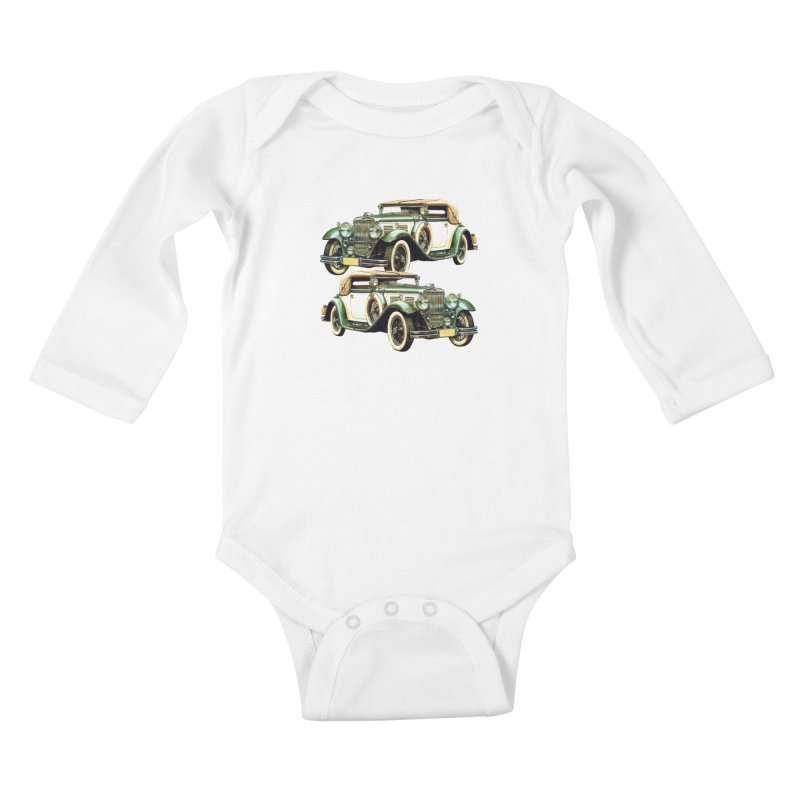 VOITURE-6 Kids Baby Longsleeve Bodysuit by THE ORANGE ZEROMAX STREET COUTURE