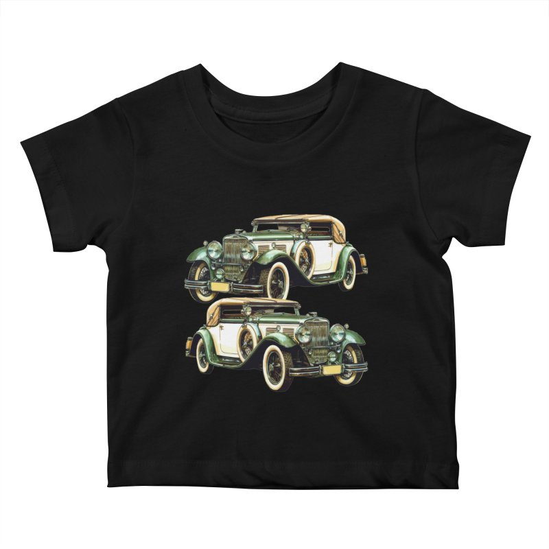 VOITURE-6 Kids Baby T-Shirt by THE ORANGE ZEROMAX STREET COUTURE