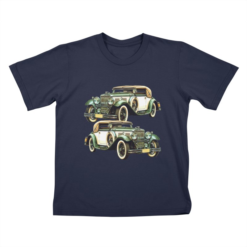 VOITURE-6 Kids T-Shirt by THE ORANGE ZEROMAX STREET COUTURE