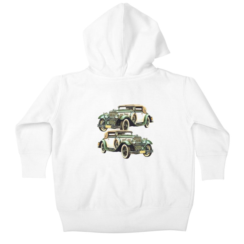 VOITURE-6 Kids Baby Zip-Up Hoody by THE ORANGE ZEROMAX STREET COUTURE