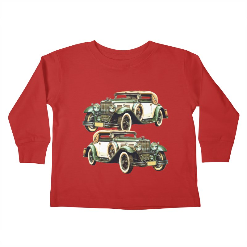 VOITURE-6 Kids Toddler Longsleeve T-Shirt by THE ORANGE ZEROMAX STREET COUTURE