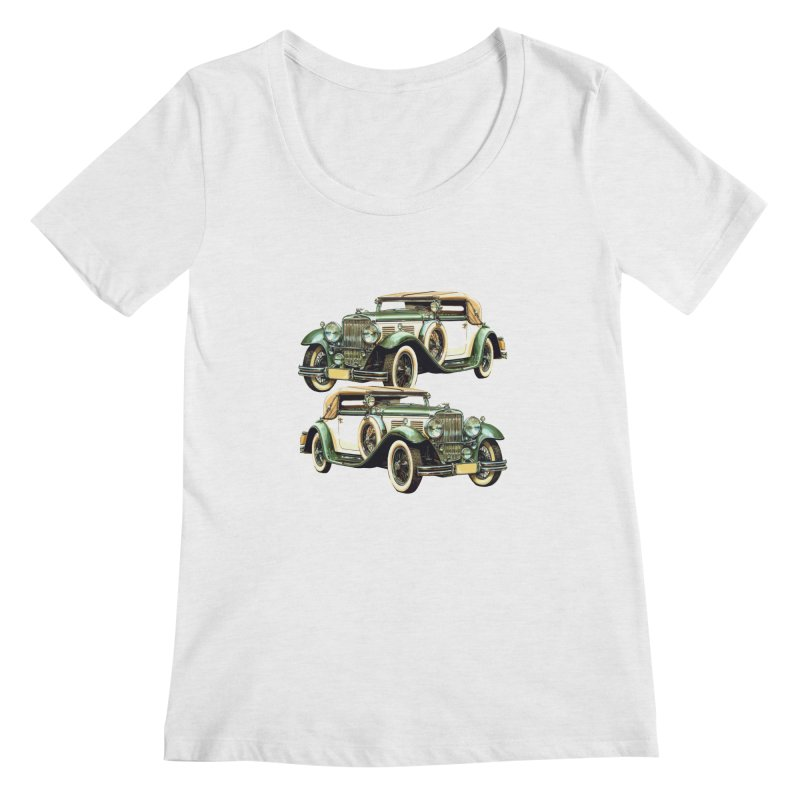 VOITURE-6 Women's Scoopneck by THE ORANGE ZEROMAX STREET COUTURE