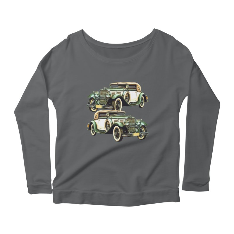 VOITURE-6 Women's Longsleeve Scoopneck  by THE ORANGE ZEROMAX STREET COUTURE