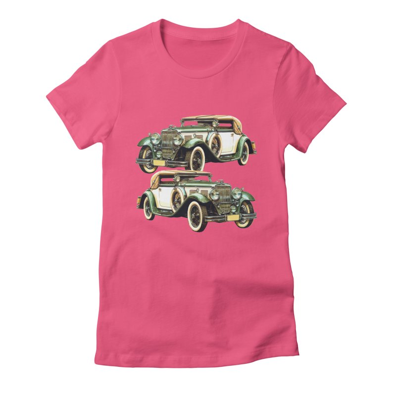 VOITURE-6 Women's Fitted T-Shirt by THE ORANGE ZEROMAX STREET COUTURE