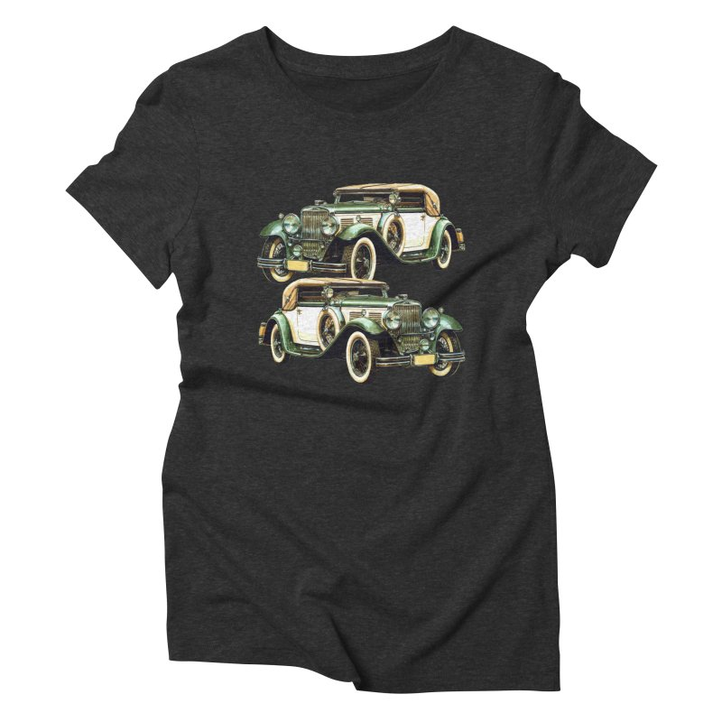 VOITURE-6 Women's Triblend T-shirt by THE ORANGE ZEROMAX STREET COUTURE