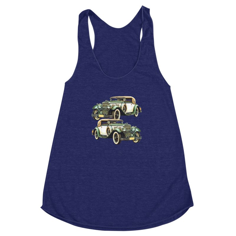 VOITURE-6 Women's Racerback Triblend Tank by THE ORANGE ZEROMAX STREET COUTURE