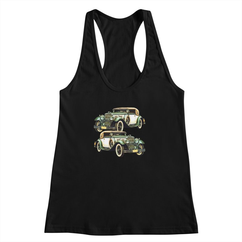 VOITURE-6 Women's Racerback Tank by THE ORANGE ZEROMAX STREET COUTURE