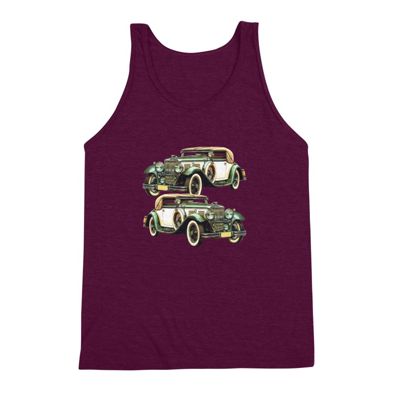 VOITURE-6 Men's Triblend Tank by THE ORANGE ZEROMAX STREET COUTURE