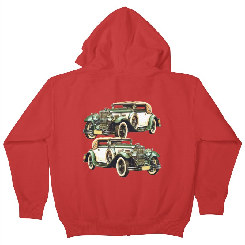 VOITURE-6 Kids Zip-Up Hoody by THE ORANGE ZEROMAX STREET COUTURE