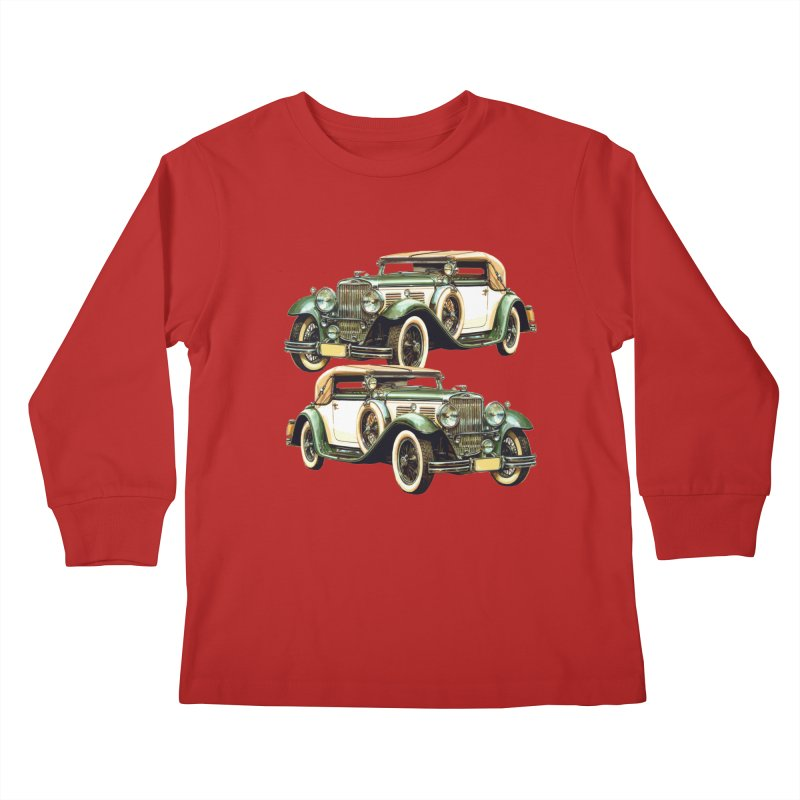 VOITURE-6 Kids Longsleeve T-Shirt by THE ORANGE ZEROMAX STREET COUTURE
