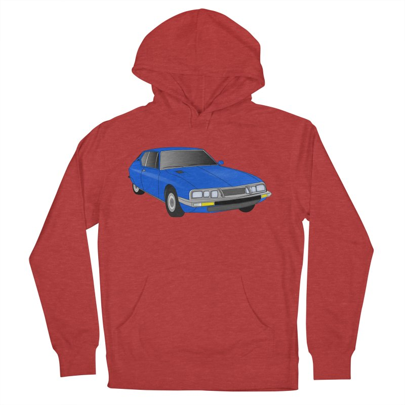 VOITURE-7 Men's French Terry Pullover Hoody by THE ORANGE ZEROMAX STREET COUTURE