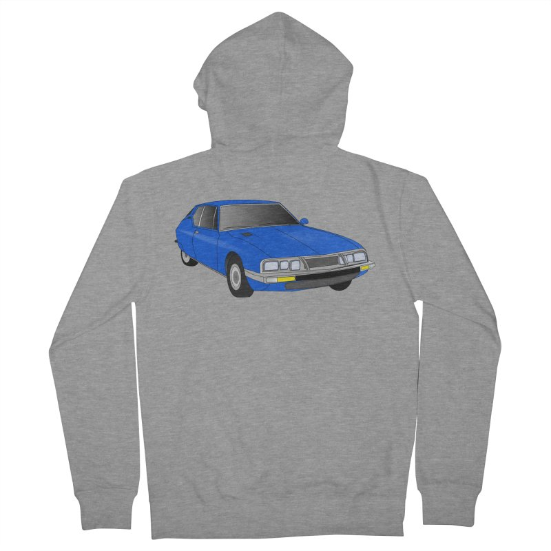 VOITURE-7 Men's French Terry Zip-Up Hoody by THE ORANGE ZEROMAX STREET COUTURE