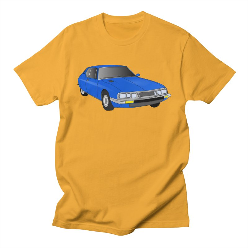 VOITURE-7 in Men's Regular T-Shirt Gold by THE ORANGE ZEROMAX STREET COUTURE