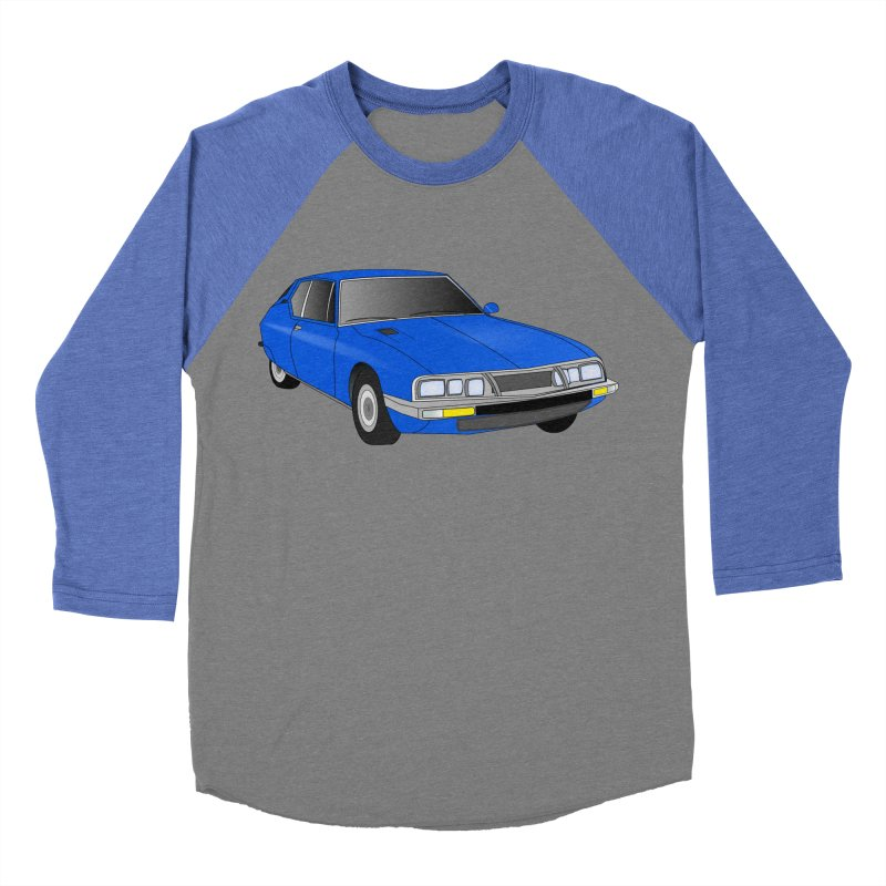 VOITURE-7 Men's Baseball Triblend T-Shirt by THE ORANGE ZEROMAX STREET COUTURE