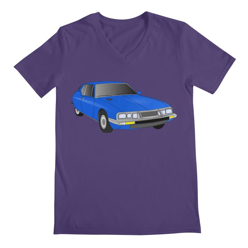 VOITURE-7 Men's V-Neck by THE ORANGE ZEROMAX STREET COUTURE