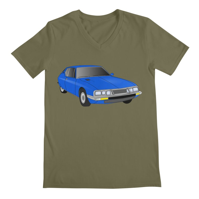 VOITURE-7 Men's Regular V-Neck by THE ORANGE ZEROMAX STREET COUTURE