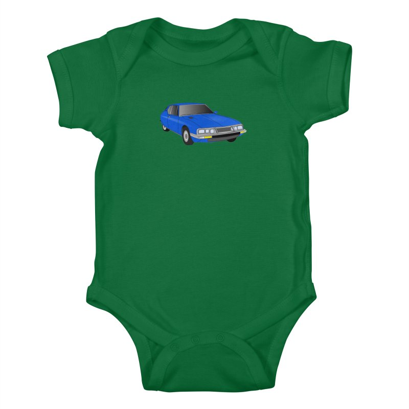 VOITURE-7 Kids Baby Bodysuit by THE ORANGE ZEROMAX STREET COUTURE
