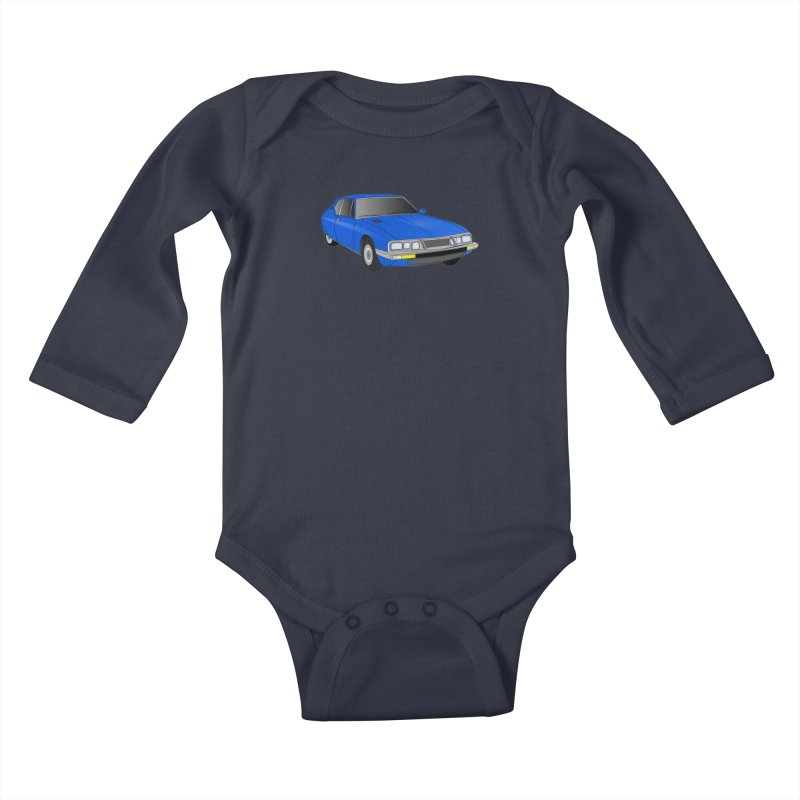 VOITURE-7 Kids Baby Longsleeve Bodysuit by THE ORANGE ZEROMAX STREET COUTURE