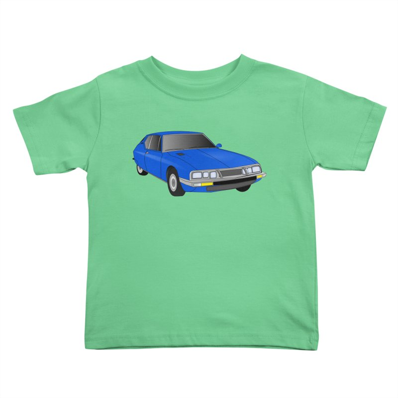 VOITURE-7 Kids Toddler T-Shirt by THE ORANGE ZEROMAX STREET COUTURE