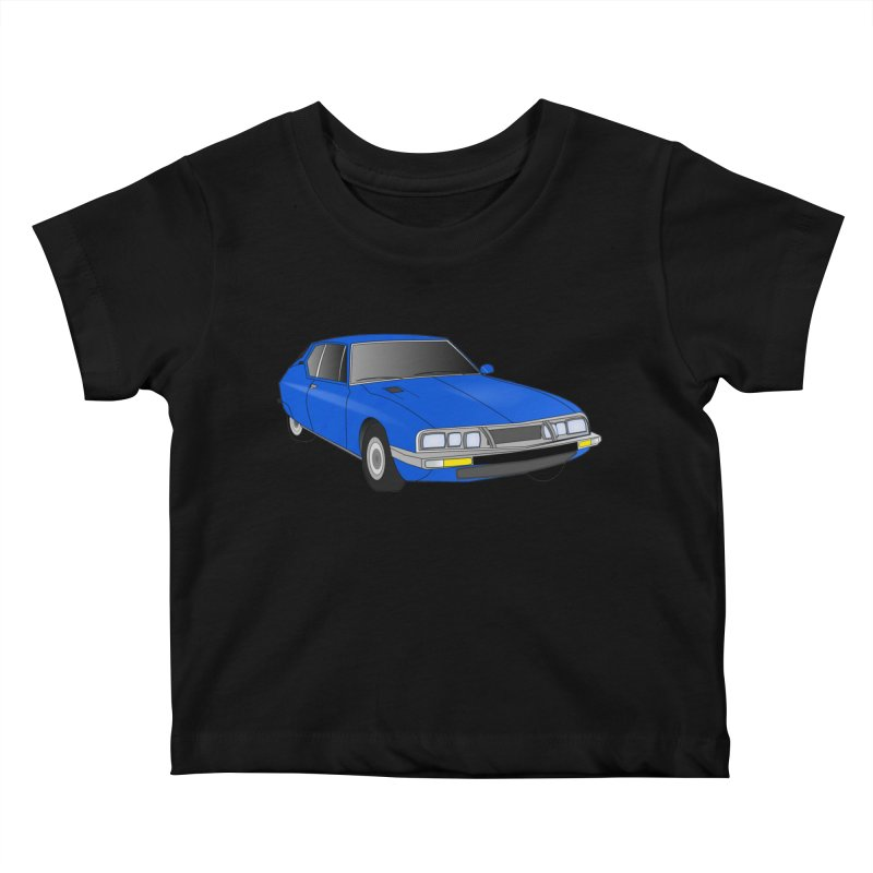 VOITURE-7 Kids Baby T-Shirt by THE ORANGE ZEROMAX STREET COUTURE