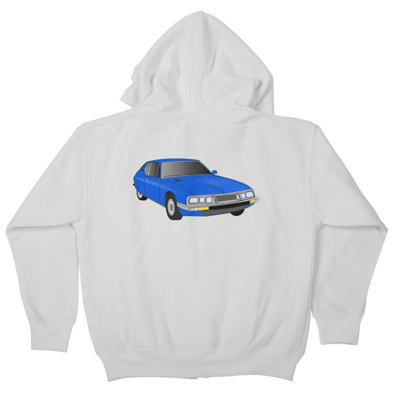 VOITURE-7 Kids Zip-Up Hoody by THE ORANGE ZEROMAX STREET COUTURE
