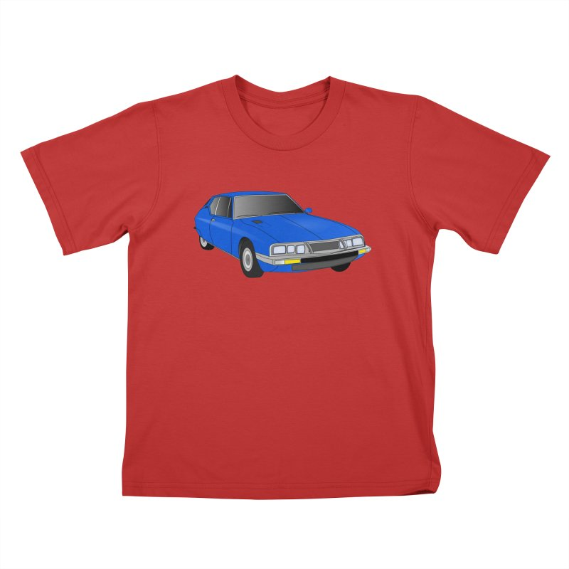 VOITURE-7 Kids T-Shirt by THE ORANGE ZEROMAX STREET COUTURE