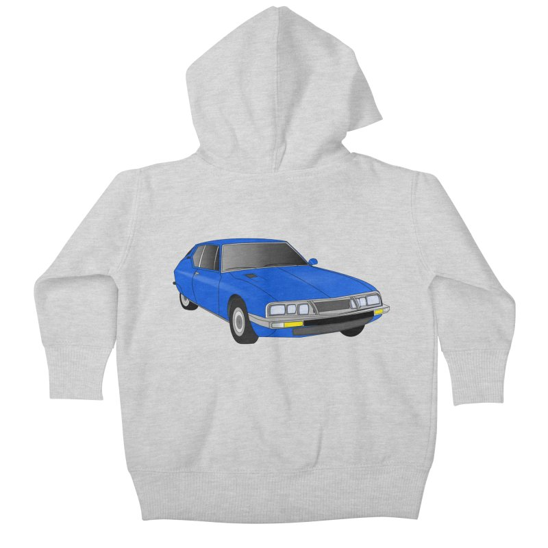 VOITURE-7 Kids Baby Zip-Up Hoody by THE ORANGE ZEROMAX STREET COUTURE